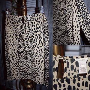 J. Crew leopard print blouse